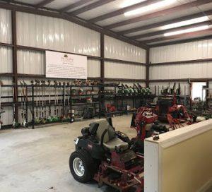 Equipment barn at DC Lawn & Landscape in Fairhope, AL