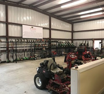 Equipment barn at DC Lawn & Landscape in Fairhope, AL