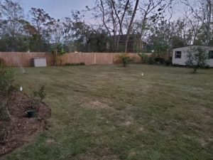 Regular grass service for a customer by DC Lawn & Landscape in Fairhope, AL