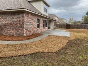 Sod installation for an improved backyard by DC Lawn & Landscape in Fairhope, AL