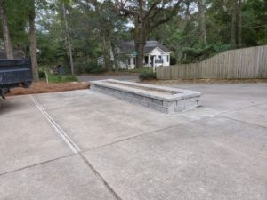 Paver and retaining wall by DC Lawn & Landscape in Fairhope, AL