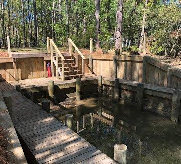 Boat dock constructed by DC Lawn & Landscape in Fairhope, AL