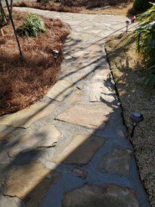 Beautiful flagstone pathway done by DC Lawn & Landscape in Fairhope, AL