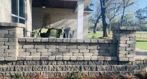 retaining wall by DC Lawn and Landscape in Fairhope, Alabama