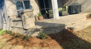Decorative wall with Columns by DC lawn and Landscape in Fairhope, Alabama