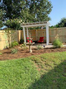 pergola done by DC Lawn & Landscape in Fairhope, al