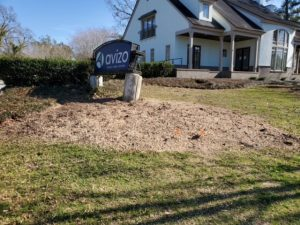 stump grinding by dc lawn & landscape in fairhope, Alabama