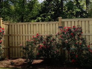 shadowbox fence done by DC lawn and landscape in fairhope, alabama