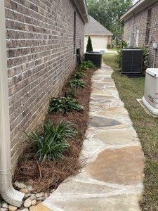 flagstone walkway done by DC lawn and landscape in Fairhope, al