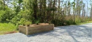custom built raised planter by dc lawn and landscape in fairhope, alabama