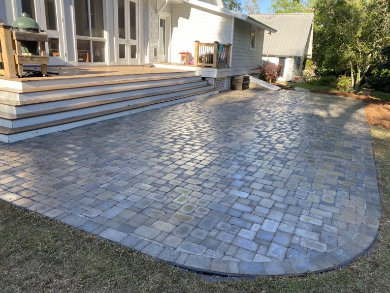 paver patio done by dc lawn and landscape in fairhope, alabama