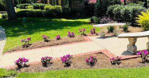 flowerbed by DC lawn and landscape in fairhope, alabama