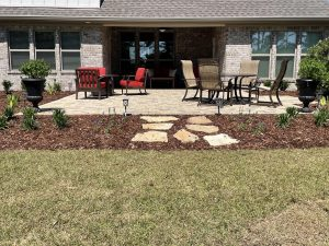 new paver patio done by DC lawn and Landscape in Fairhope, al