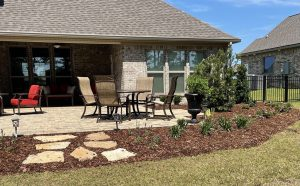 new patio and walkway done by DC lawn and Landscape in Fairhope, Al