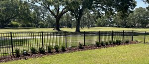 new flowerbed by DC lawn and landscape in fairhope, alabama