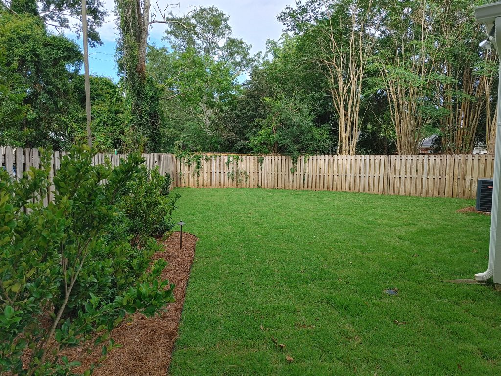 landscape and sod installation done by DC lawn and Landscape in Fairhope, AL