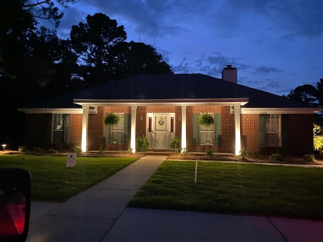 outdoor lighting done by dc lawn and landscape